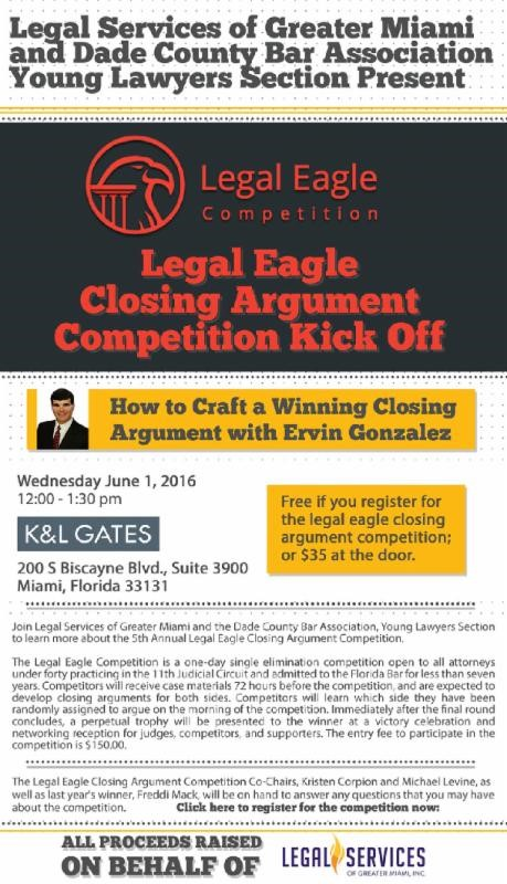 Legal eagle closing argument competition kick off how to for The craft of argument